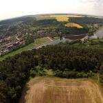 Libčice nad Vltavou přes řeku
